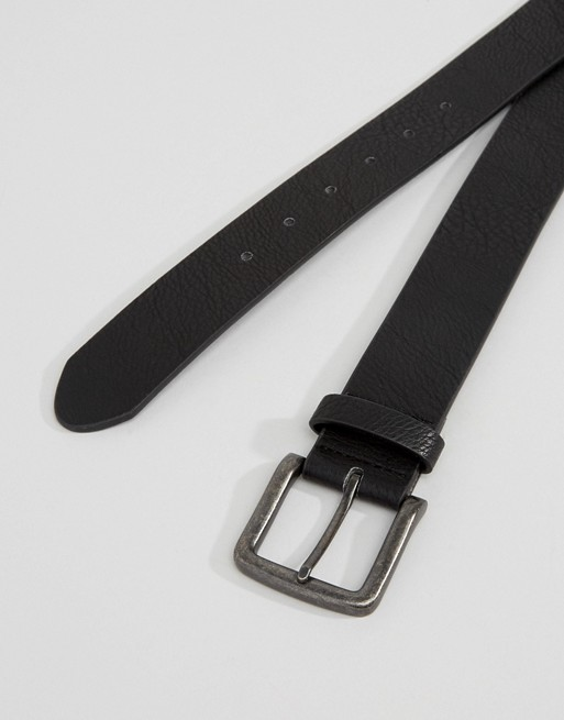 black leather ASOS faux belt in DESIGN wide ASOS Swqax0Fa