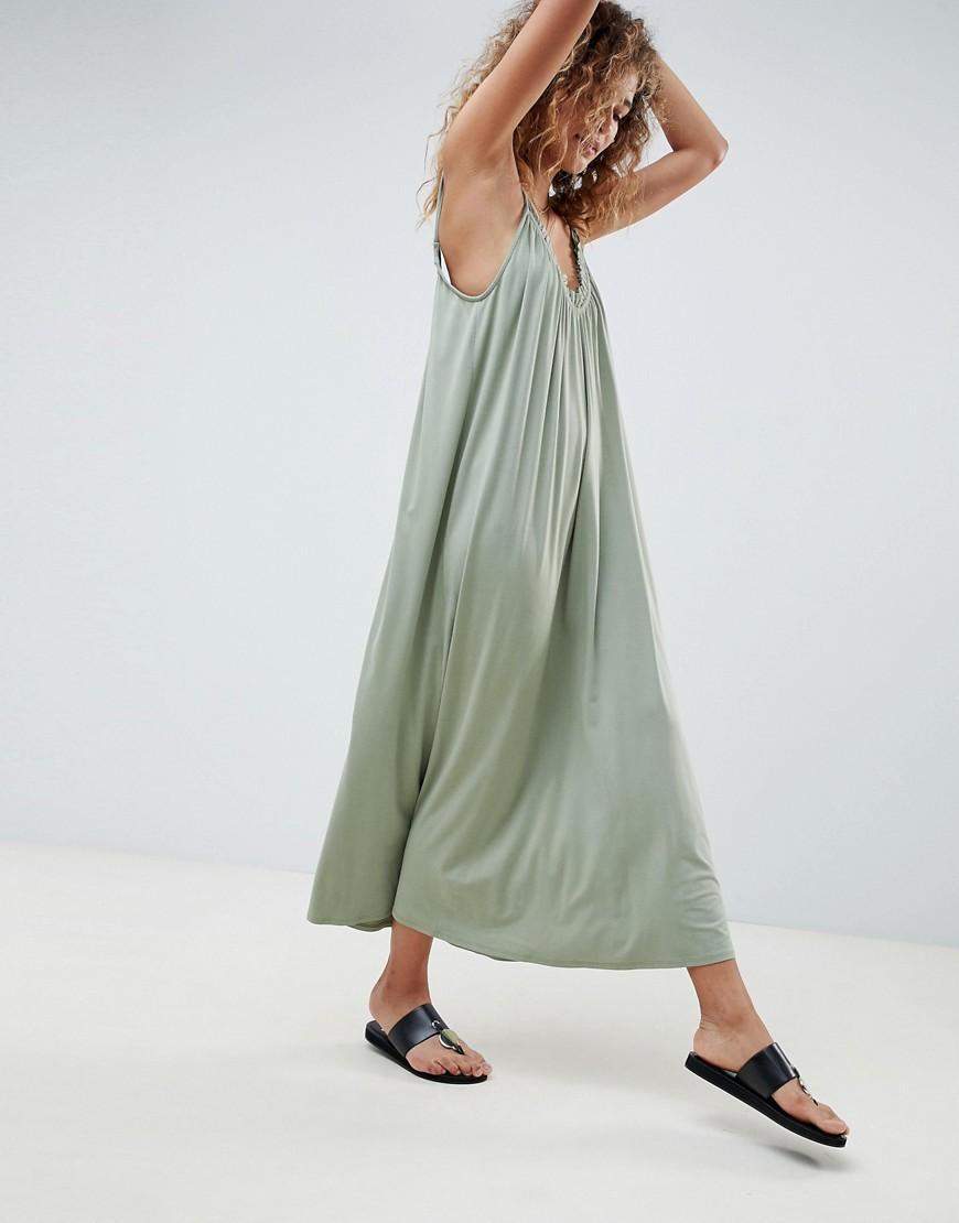 Asos Design Gathered Maxi Dress by Asos Design