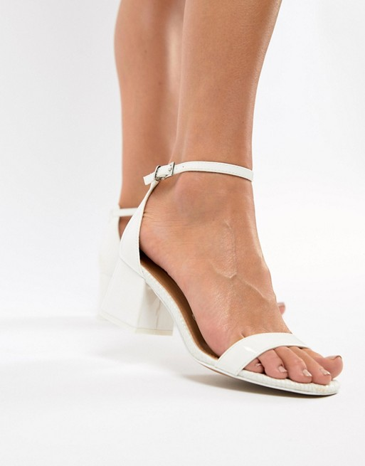 ASOS DESIGN Honeydew heeled sandals 1SgExRm3Gu