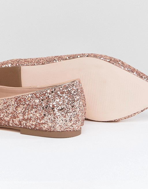 Ballet Wide ASOS Pointed DESIGN Latch Flats Fit arXwXEBSnq