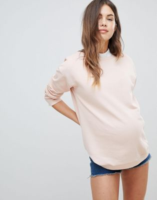 Image 1 of ASOS DESIGN Maternity ultimate sweat in pink