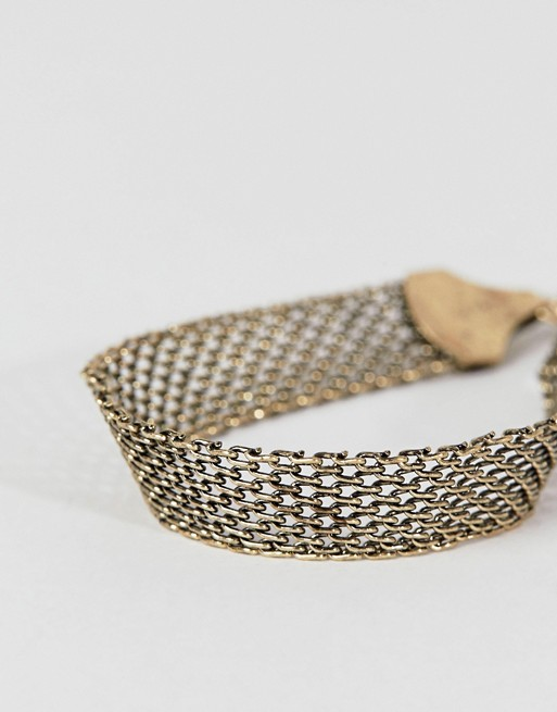 mesh in ASOS ASOS set DESIGN metals bracelet mixed burnished qEFF7A