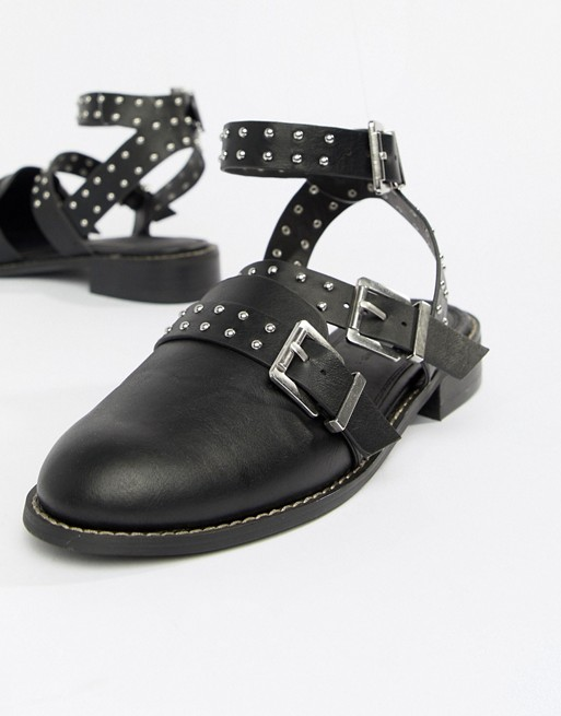 Studded ASOS DESIGN Flat Mews Shoes Hqv8F