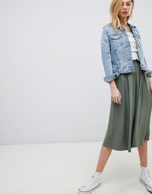 Design Midi Skirt With Pleats Box Asos gqZCwdq