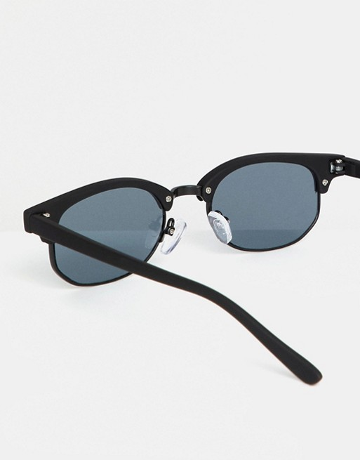 ASOS Matt ASOS Retro With Smoke In Black Sunglasses DESIGN Mini Lens rwTrSWgnx