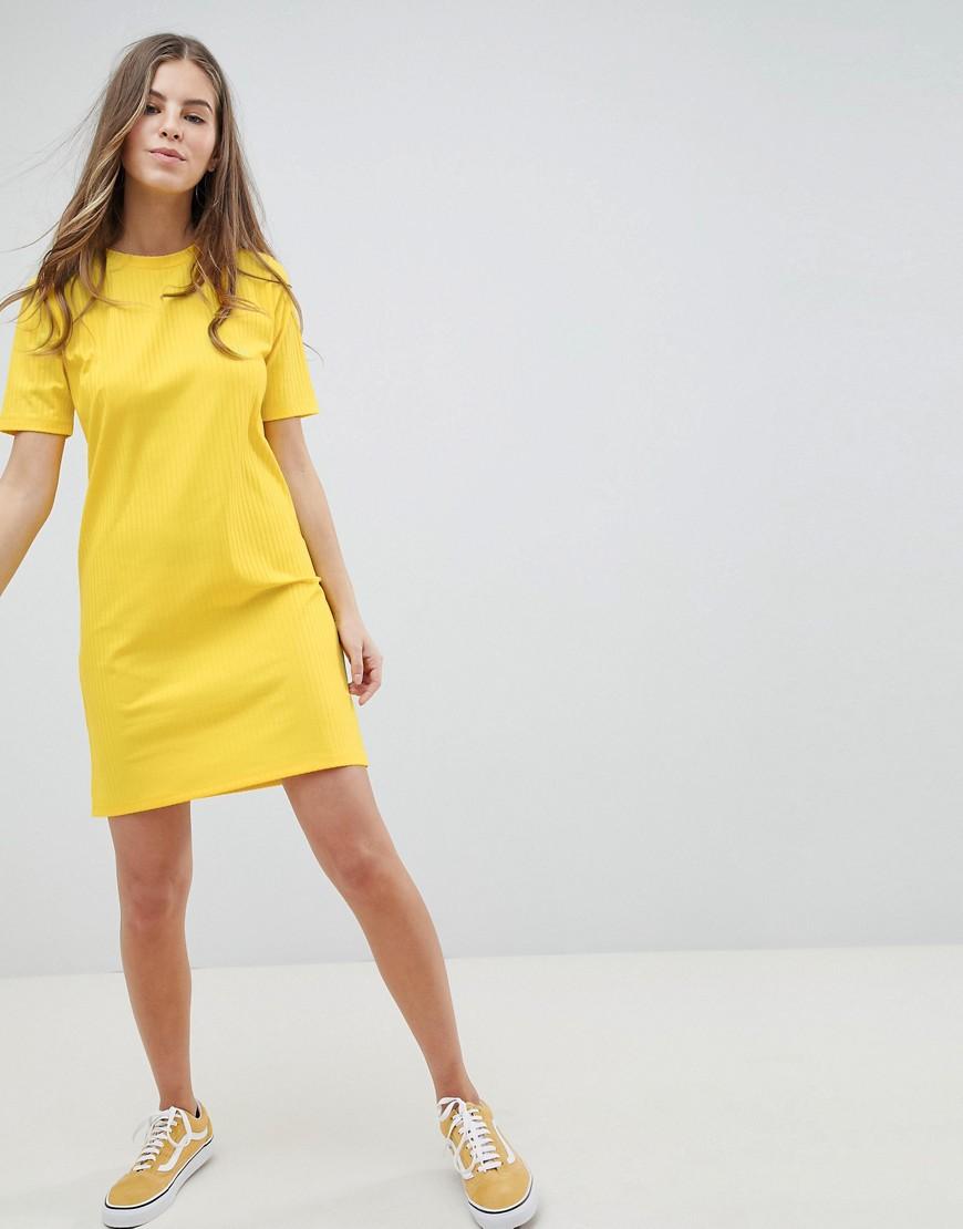ASOS DESIGN mini t-shirt dress in slinky rib