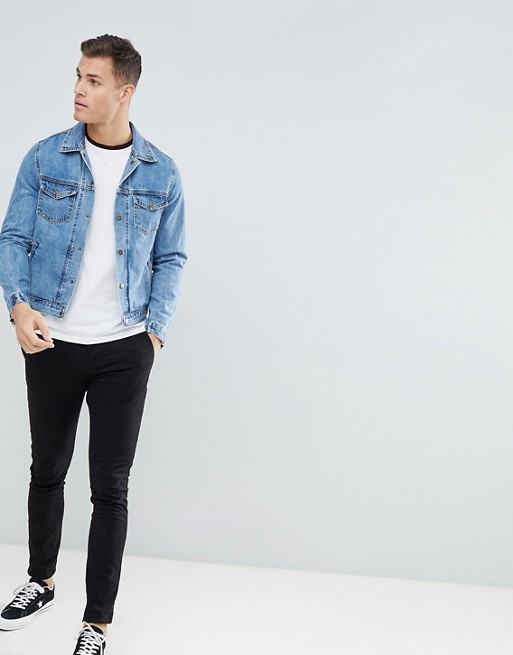 Contrast Muscle Sleeves shirt Asos With Design T Raglan YxncOnw15q