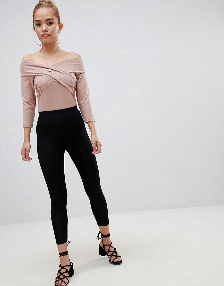 Asos Design Petite Body With Wrap Front by Asos Design