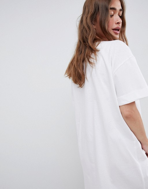 Asos Ultimate T Dress With Sleeves shirt Petite Rolled Design xrPtfx