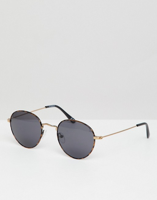lens round in tort smoke sunglasses DESIGN ASOS ASOS with 8wxERqWTn