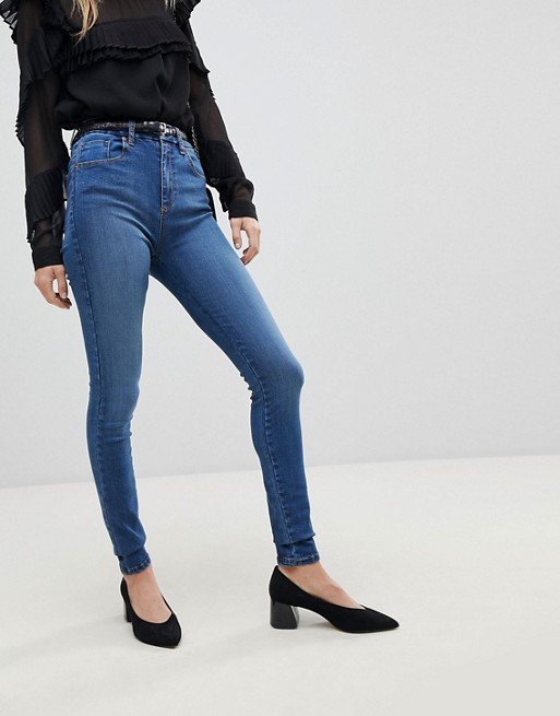 Clearance Pictures DESIGN Sculpt me high rise premium jeans in nova dark mid wash blue - Mid dark wash blue Asos Discount From China Manchester Great Sale Sale Online Top-Rated Eastbay Sale Online uI0Tv3Sfw
