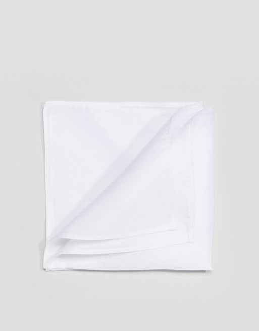 ASOS white silk ASOS square pocket in DESIGN wxTzqwC0