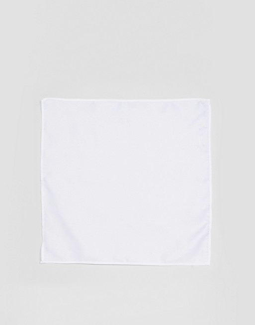 DESIGN silk in square pocket white ASOS ASOS 5gwqpp