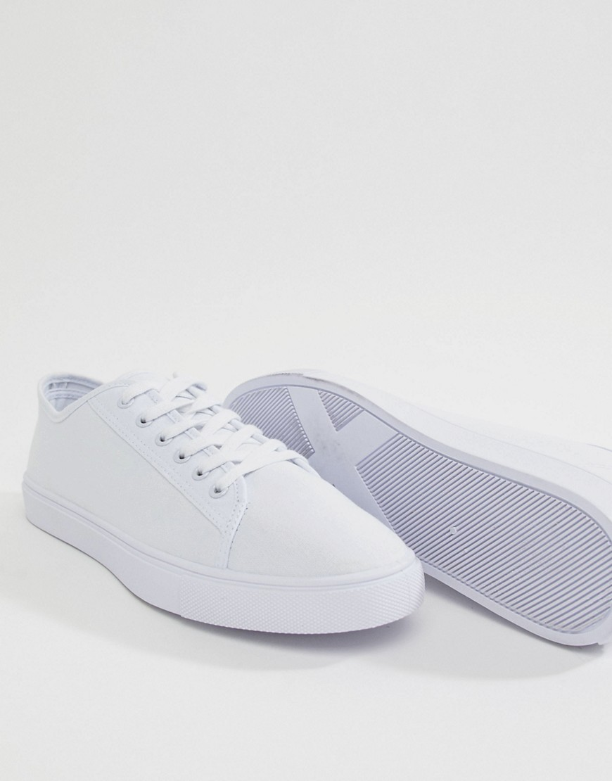 Asos Design   Sneakers&Nbsp;Van Wit Canvas by Asos