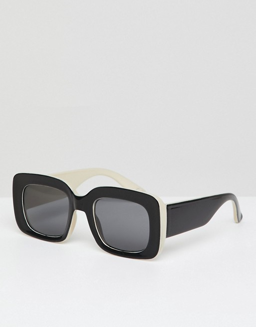 With Black Lens ASOS Sunglasses Square ASOS In White Smoke DESIGN amp; Uxnp8PpwT
