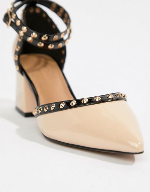 ASOS DESIGN | – ASOS DESIGN – Stealth – | Schuhe mit mittelhohem Absatz und Nieten 1d8c50