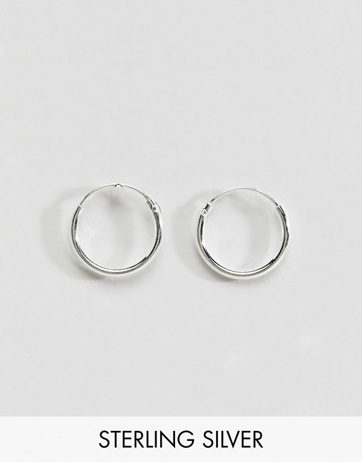 earrings hoop sterling DESIGN 12mm ASOS silver ASOS cwfYFwqS
