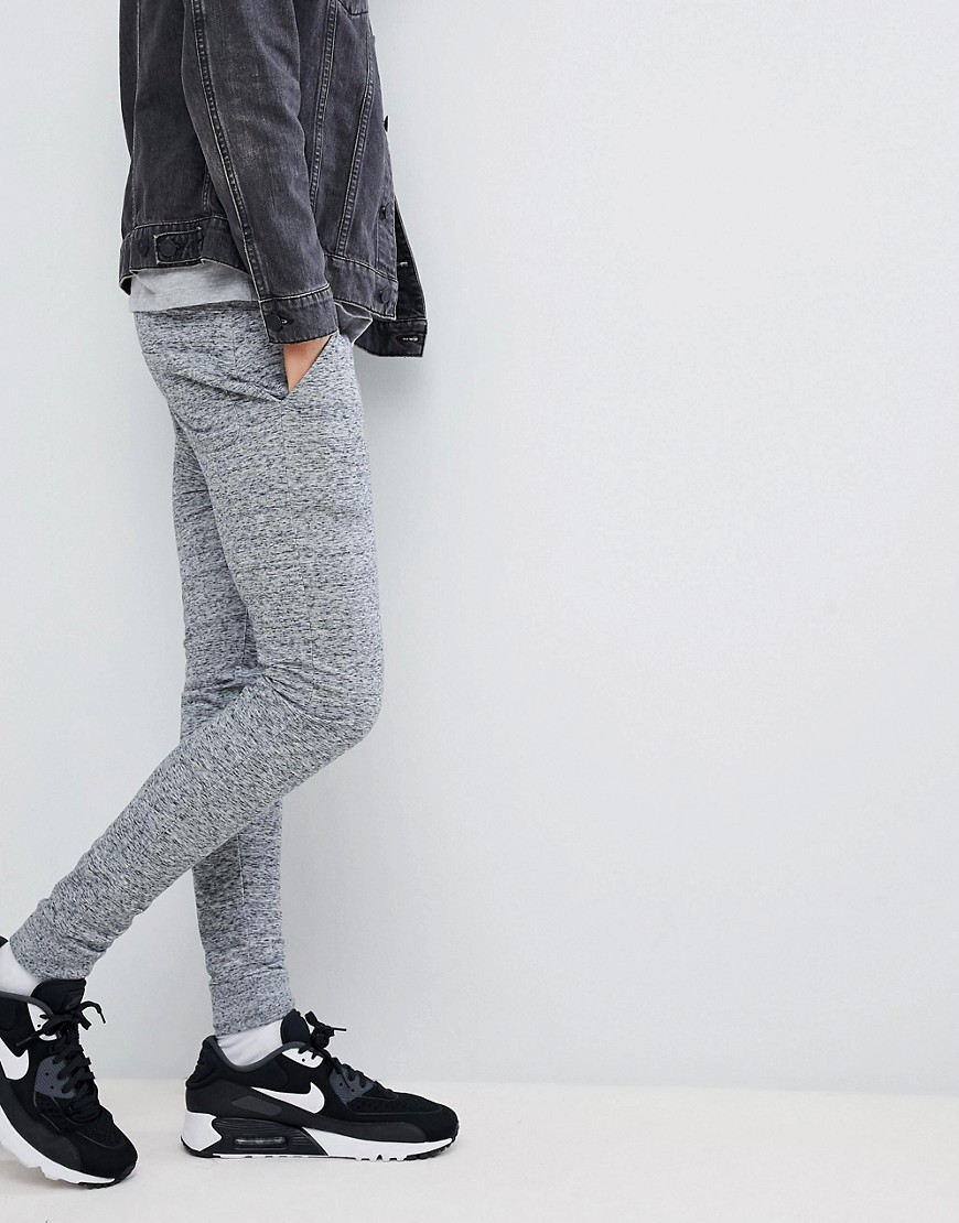 Asos Design Super Skinny Joggers In Gray Interest Fabric by Asos Design