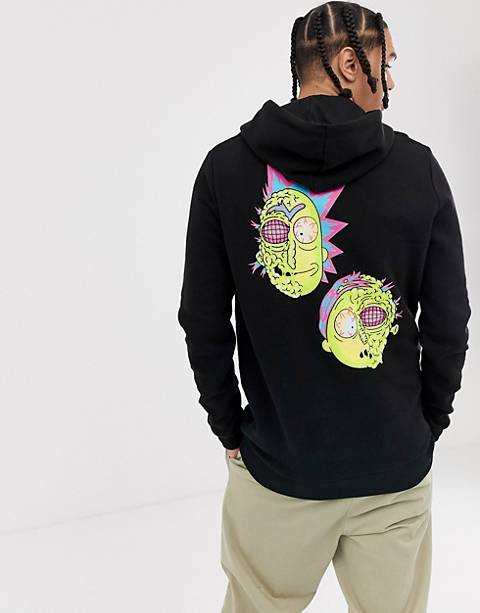 ASOS DESIGN Tall hoodie with Rick & Morty print