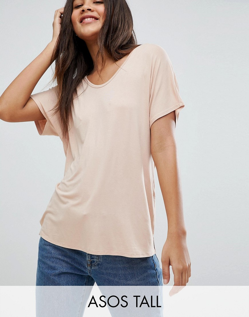 ASOS DESIGN Tall t-shirt with drapey batwing sleeve in white - White Asos Tall