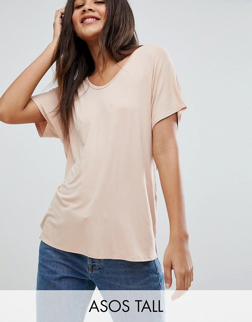 ASOS DESIGN Tall t-shirt with drapey batwing sleeve in white - White Asos Tall Limited Edition Cheap Price Best Wholesale Sale Online Sale View Websites Cheap Online Collections Online 818HKIV