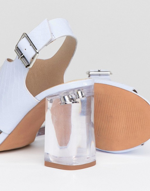 Sandals ASOS Transparent Heeled ASOS ASOS DESIGN Transparent Sandals DESIGN DESIGN Heeled Heeled Transparent Sandals wpFftq