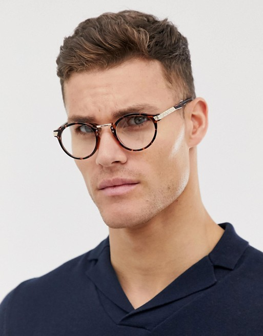 tort ASOS glasses clear round in ASOS lens DESIGN vintage 8Cw4Hq
