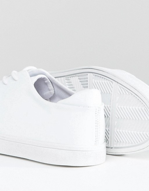DESIGN trainers Wide white with in cap toe Fit ASOS dwvqxZtFd