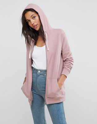 Image 1 of ASOS DESIGN Zip Through Hoodie