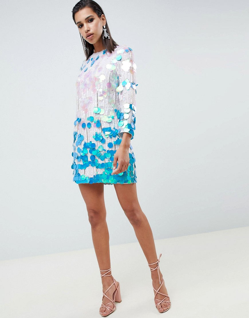 Asos Edition Disc Sequin Shift Dress by Asos Edition