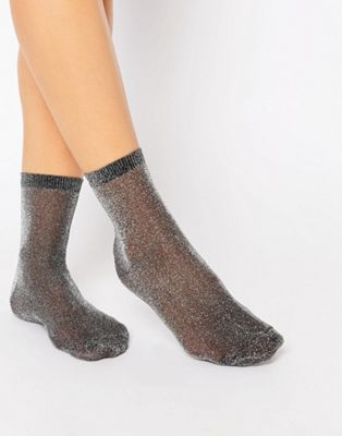Image 1 of ASOS Glitter Ankle Socks