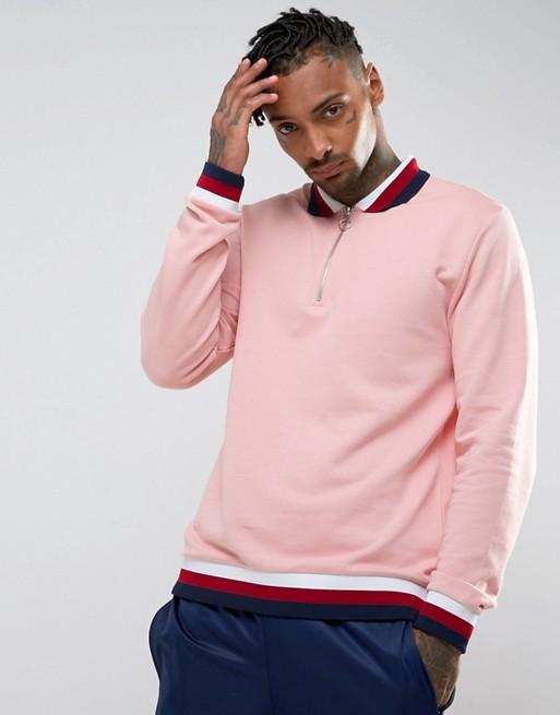 9051215d597b Vans Half Zip Tape Sweatshirt In Orange Exclusive To Asos | 2019 ...