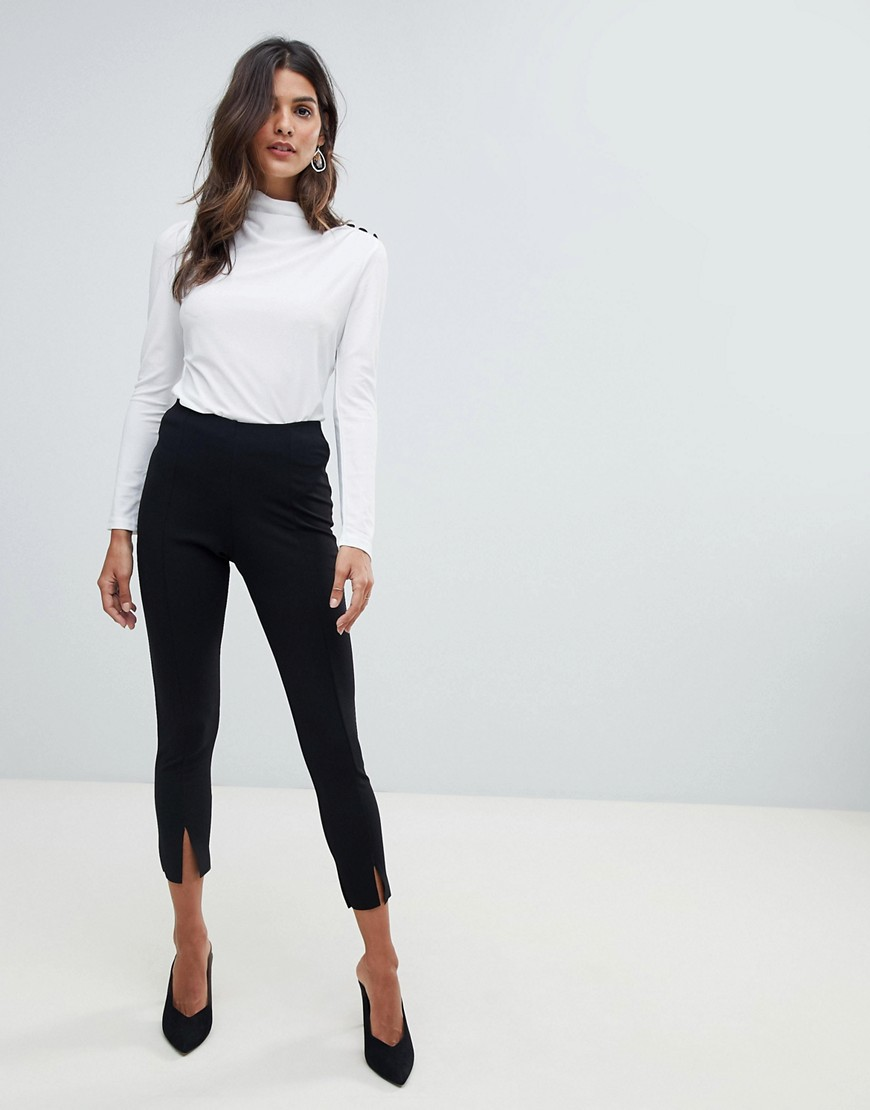 Asos High Drape Neck Top With Button Detail by Asos Collection