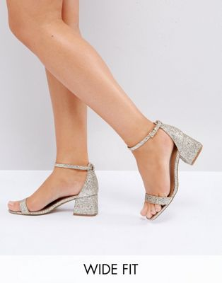 Image 1 of ASOS HONEYDEW Wide Fit Heeled Sandals