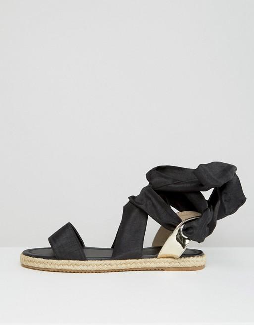 JULIA - Sandales espadrilles avec noeud sur la jambe