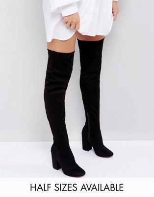 Image 1 of ASOS KATCHER Heeled Over The Knee Boots