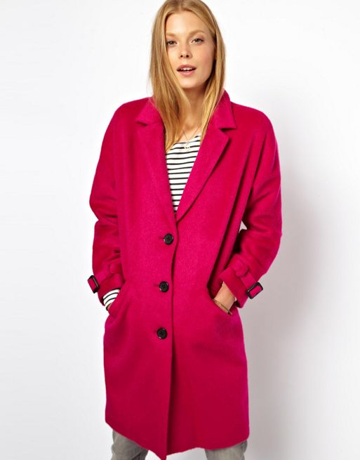 Image 1 of ASOS Limited Edition Pink Mohair Coat