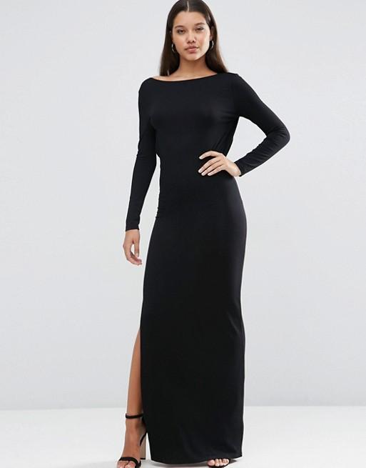 ASOS | ASOS Low Back Long Sleeve Maxi Dress