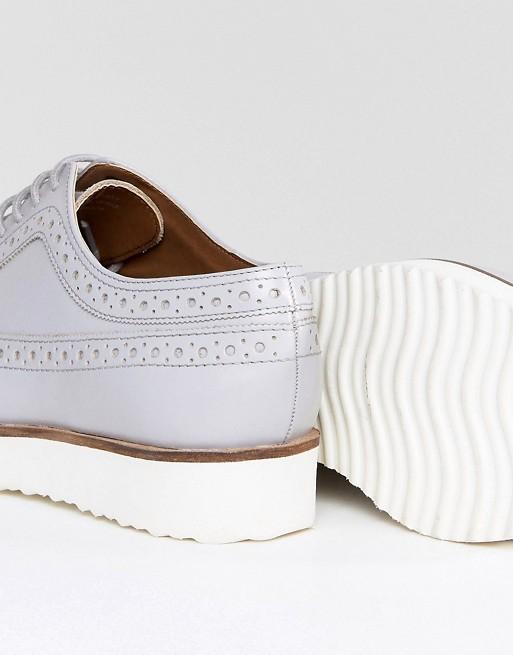 ASOS - ASOS - MARCE - Chaussures plates en cuir Visiter Le Nouveau Pas Cher En Ligne Choix De Vente Pas Cher MQNWe2iQ