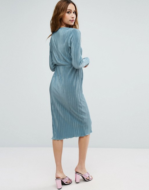 ASOS Maternity | ASOS Maternity PETITE Pencil Plisse Dress with Wrap ...