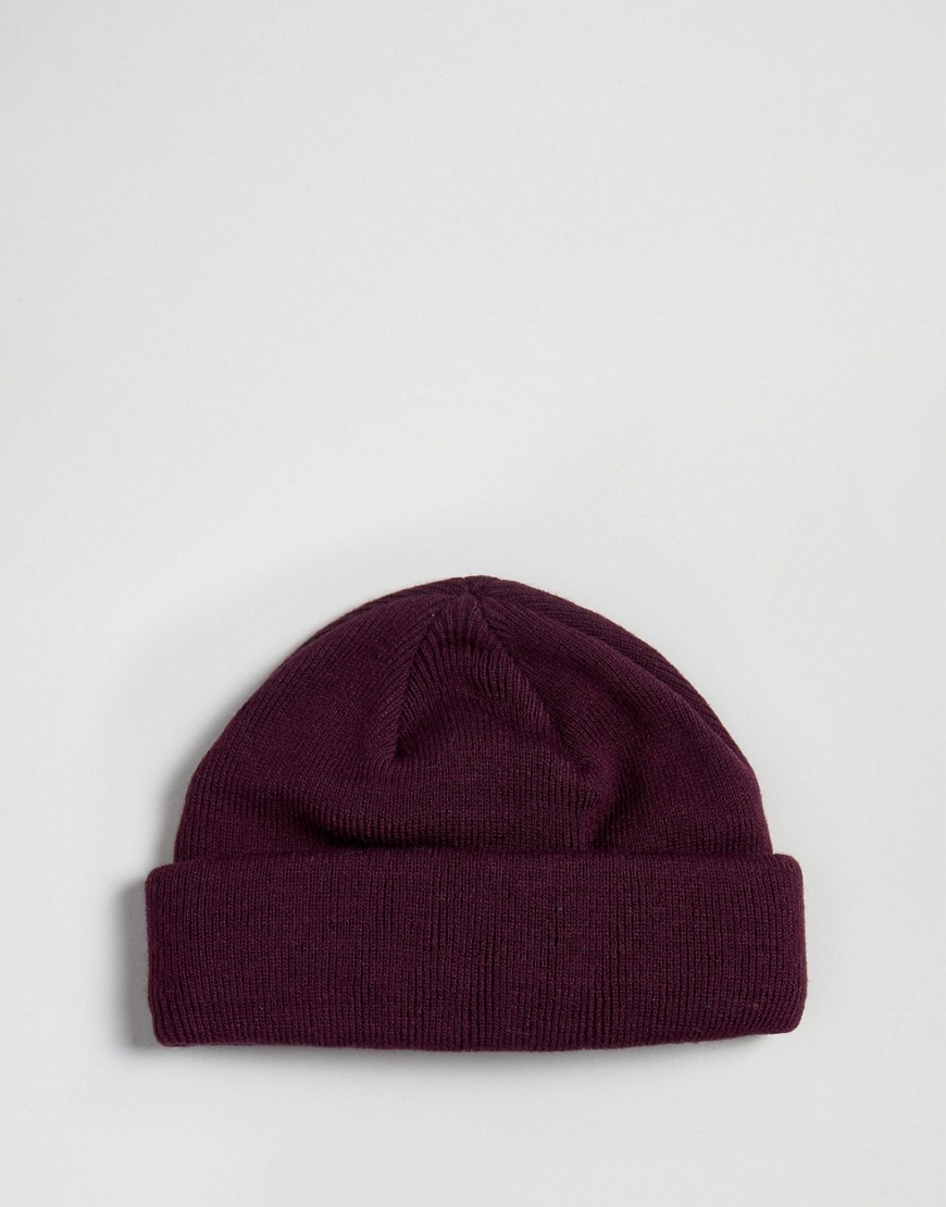 Asos Mini Fisherman Beanie 2 Pack In Black & Burgundy Save by Asos