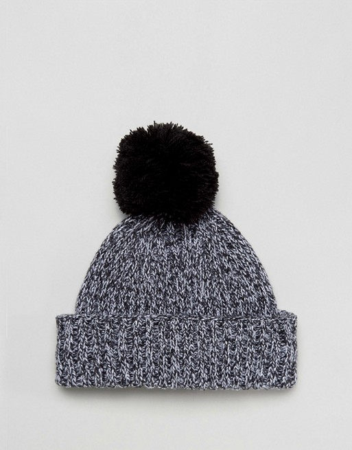 Twist ASOS Beanie Bobble Mini In Fisherman Black ASOS xB7ZOO