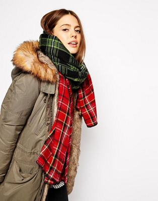 Image 1 of ASOS Mixed Block Check Scarf