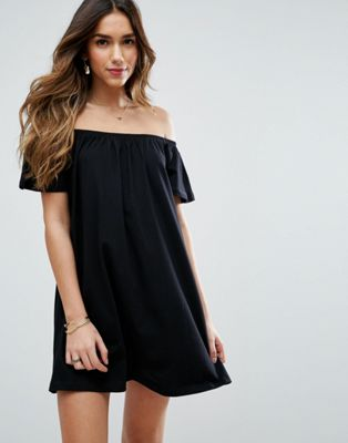 Image 1 of ASOS Off Shoulder Mini Dress