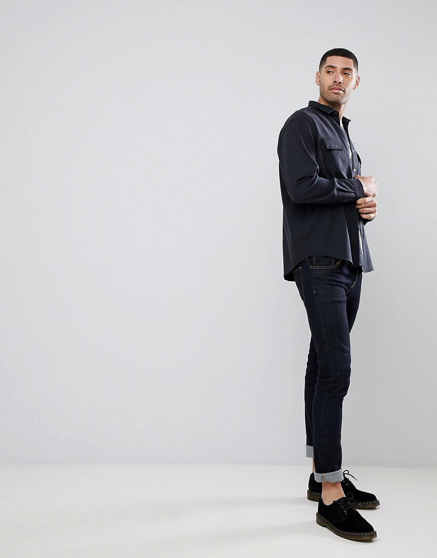 Asos Overshirt In Heavy Twill With Poppers by Asos