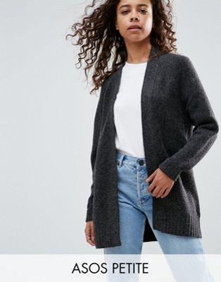 Image 1 sur ASOS PETITE - Cardigan maille épaisse en laine mélangée