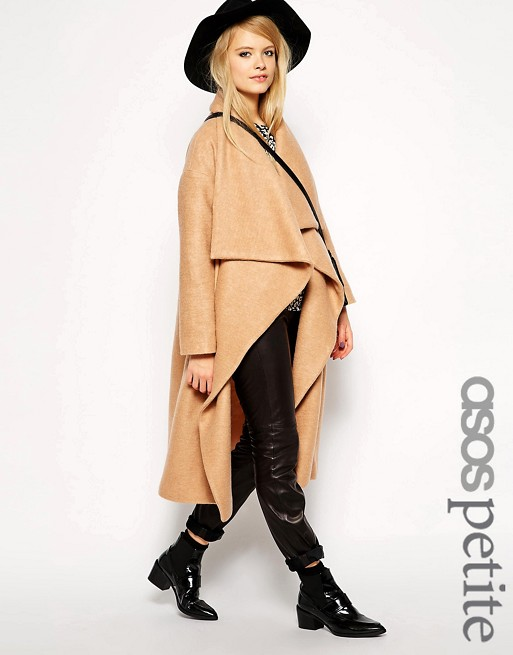 ASOS Petite | ASOS PETITE Oversized Coat With Waterfall Drape
