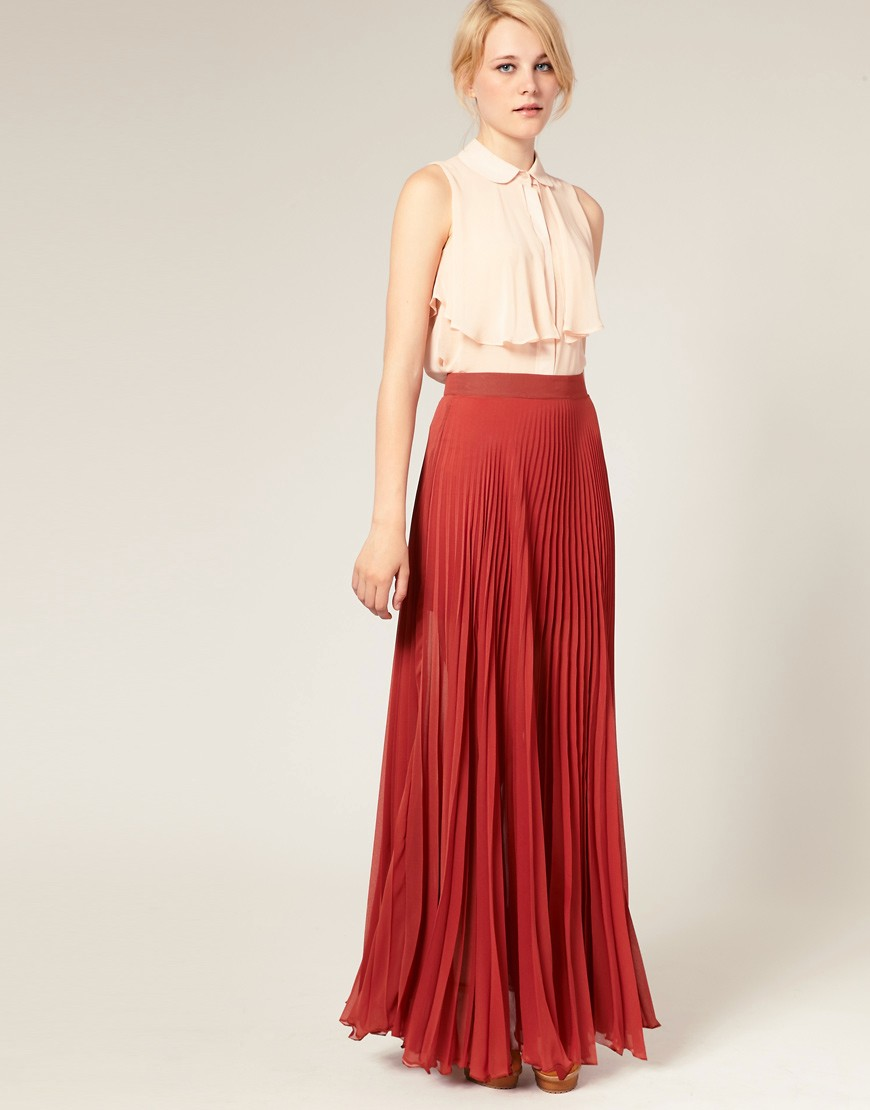 ASOS | ASOS Pleated Maxi Skirt