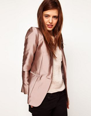 Image 1 of ASOS Premium Evening Tux Blazer