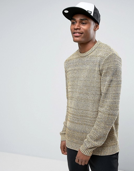 Home; ASOS Relaxed Fit Jumper In Black & Yellow Twist. image.AlternateText